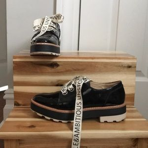ZARA| Faux Leather Platform Derby Shoes
